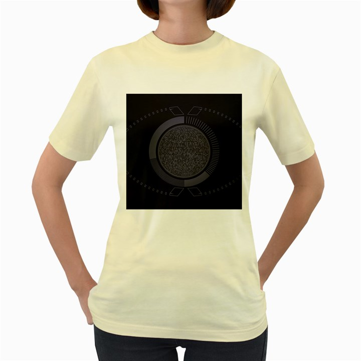 Technology Eye Women s Yellow T-Shirt