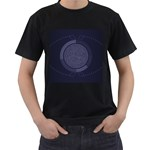 Technology Eye Men s T-Shirt (Black) (Two Sided) Front