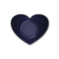 Technology Eye Heart Coaster (4 Pack)  by HermanTelo