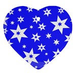 Star Background Pattern Advent Ornament (Heart) Front