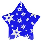 Star Background Pattern Advent Ornament (Star) Front
