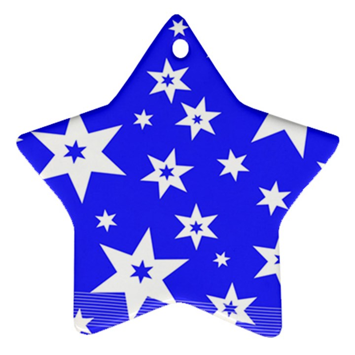 Star Background Pattern Advent Ornament (Star)
