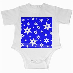 Star Background Pattern Advent Infant Creepers