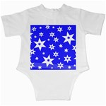 Star Background Pattern Advent Infant Creepers Back