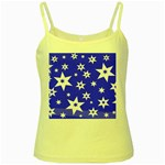 Star Background Pattern Advent Yellow Spaghetti Tank Front