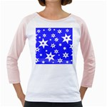 Star Background Pattern Advent Girly Raglan Front