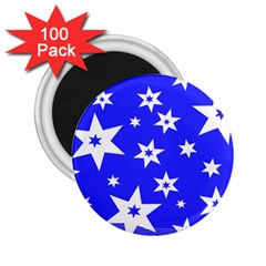 Star Background Pattern Advent 2 25  Magnets (100 Pack)  by HermanTelo