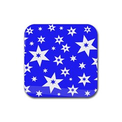 Star Background Pattern Advent Rubber Coaster (square)  by HermanTelo