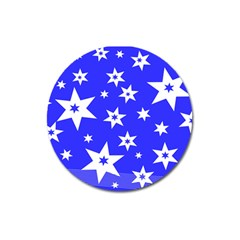 Star Background Pattern Advent Magnet 3  (round) by HermanTelo