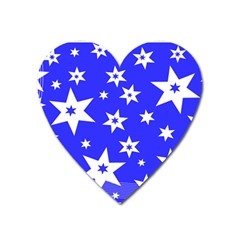 Star Background Pattern Advent Heart Magnet by HermanTelo