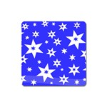 Star Background Pattern Advent Square Magnet Front