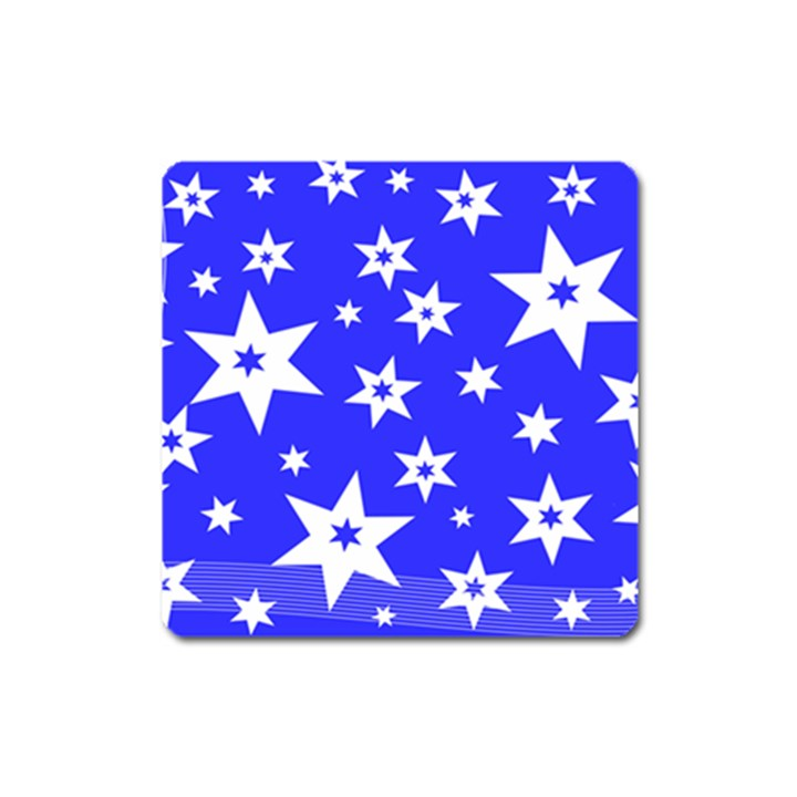 Star Background Pattern Advent Square Magnet