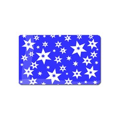 Star Background Pattern Advent Magnet (name Card) by HermanTelo