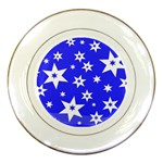 Star Background Pattern Advent Porcelain Plates Front