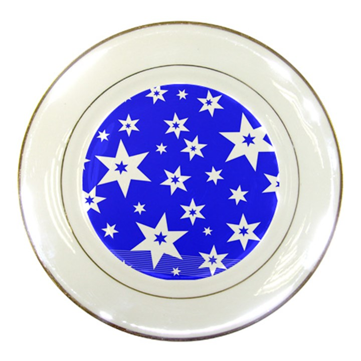 Star Background Pattern Advent Porcelain Plates