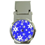 Star Background Pattern Advent Money Clip Watches Front