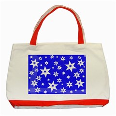 Star Background Pattern Advent Classic Tote Bag (red)