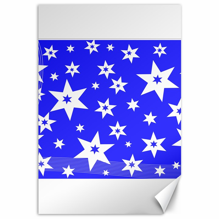 Star Background Pattern Advent Canvas 12  x 18