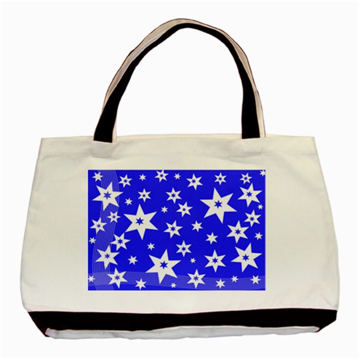 Star Background Pattern Advent Basic Tote Bag (Two Sides)