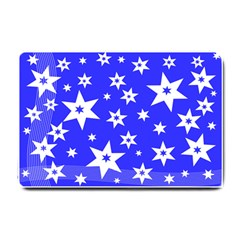Star Background Pattern Advent Small Doormat  by HermanTelo