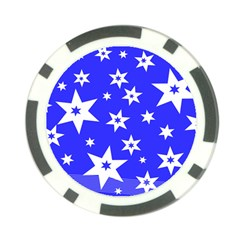 Star Background Pattern Advent Poker Chip Card Guard by HermanTelo