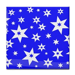 Star Background Pattern Advent Face Towel by HermanTelo