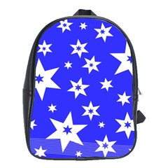 Star Background Pattern Advent School Bag (large) by HermanTelo