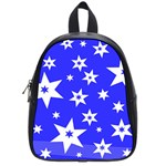 Star Background Pattern Advent School Bag (Small) Front