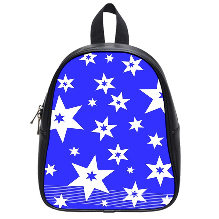 Star Background Pattern Advent School Bag (Small)
