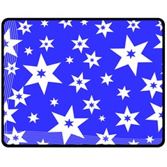Star Background Pattern Advent Fleece Blanket (medium)  by HermanTelo