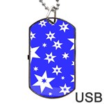 Star Background Pattern Advent Dog Tag USB Flash (One Side) Front
