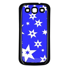 Star Background Pattern Advent Samsung Galaxy S3 Back Case (black) by HermanTelo