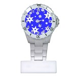 Star Background Pattern Advent Plastic Nurses Watch Front