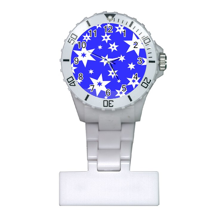 Star Background Pattern Advent Plastic Nurses Watch
