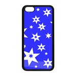 Star Background Pattern Advent iPhone 5C Seamless Case (Black) Front