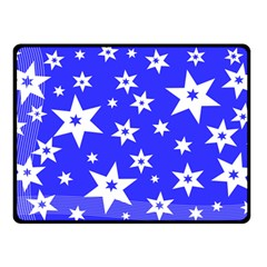 Star Background Pattern Advent Double Sided Fleece Blanket (small)  by HermanTelo