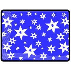 Star Background Pattern Advent Double Sided Fleece Blanket (large)  by HermanTelo