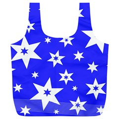 Star Background Pattern Advent Full Print Recycle Bag (xl)