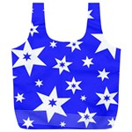 Star Background Pattern Advent Full Print Recycle Bag (XL) Back