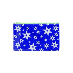 Star Background Pattern Advent Cosmetic Bag (xs)