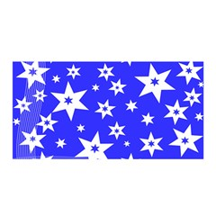 Star Background Pattern Advent Satin Wrap