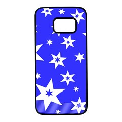 Star Background Pattern Advent Samsung Galaxy S7 Black Seamless Case by HermanTelo