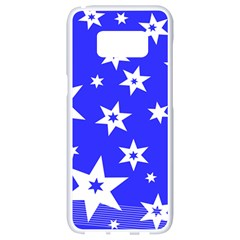 Star Background Pattern Advent Samsung Galaxy S8 White Seamless Case by HermanTelo