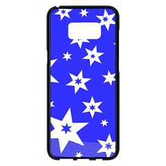 Star Background Pattern Advent Samsung Galaxy S8 Plus Black Seamless Case by HermanTelo