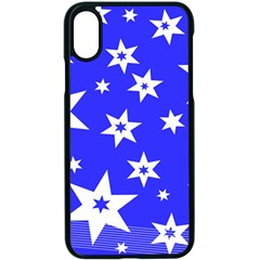 Star Background Pattern Advent Iphone Xs Seamless Case (black) by HermanTelo