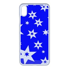 Star Background Pattern Advent Iphone Xs Max Seamless Case (white)