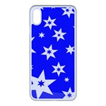 Star Background Pattern Advent iPhone XS Max Seamless Case (White) Front