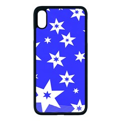 Star Background Pattern Advent Iphone Xs Max Seamless Case (black)