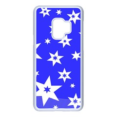 Star Background Pattern Advent Samsung Galaxy S9 Seamless Case(white)