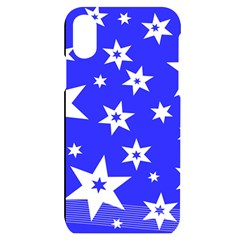 Star Background Pattern Advent Iphone X/xs Black Uv Print Case by HermanTelo